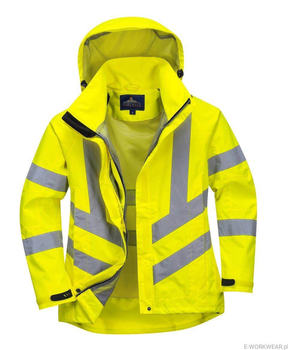 Przejściowa damska kurtka ostrzegawcza oddychająca LW70