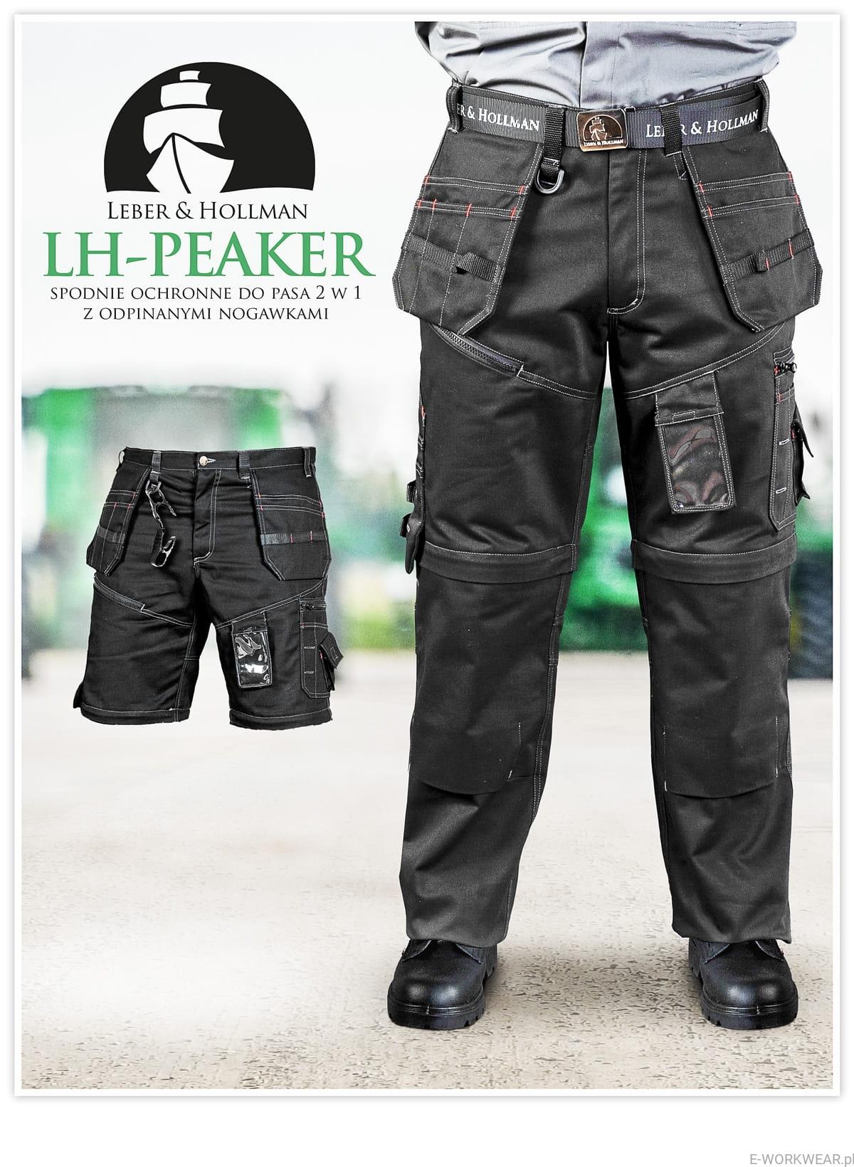 LH PEAKER spodnie z odsuwanymi nogawkami i kieszeniami wiszącymi